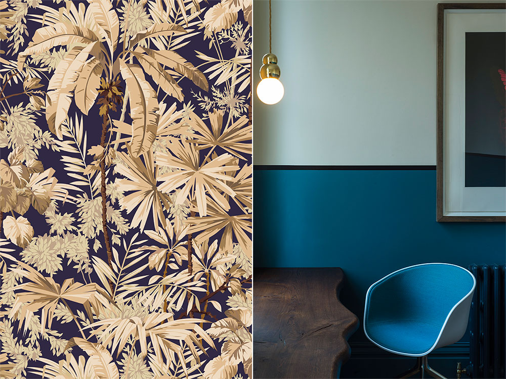 Colour and pattern working side by side to create something completely individual. Own design wallpaper.